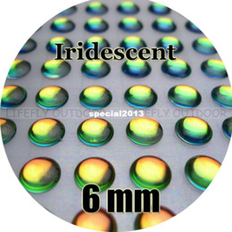 Wholesale Made Fly Fishing Lure - 6mm, Iridescent Color   Wholesale 800 Soft Molded 3D Holographic Fish Eyes, Fly Tying, Jig, Lure Making 15 64
