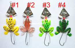 Free Soft Bait Minnows Canada - 115mm spinner spoon soft frog fishing Buzz baits lures plastic Fishing tackle Minnow 6.2G 11.5cm Japan hook 50pcs free shipping