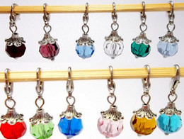 Wholesale Dangle Charms For Bracelet Necklace - 240pcs mixed colors NEW Floating CRYSTAL DANGLES for Living Locket Necklace Charm Bracelet Jewelry