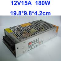 elektrik şeritleri toptan satış-12 V 15A 180 W için anahtarlama Güç Suply Sürücü için özel Büyük Promosyon Şerit Işık AC100V-240V Girişi, CEROHS Sertifikalı