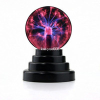 Wholesale High quality Glass Plasma Ball Sphere USB vehicle mounted audio control Gift box Lightning Light Lamp Party