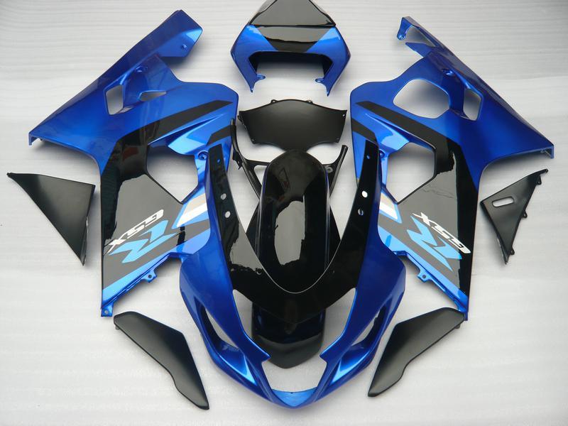 Carenados profesionales para SUZUKI GSXR 600 750 K4 2004 2005 GSXR600 GSXR750 04 05 R600 R750 brillante azul oscuro ABS carenado SS34