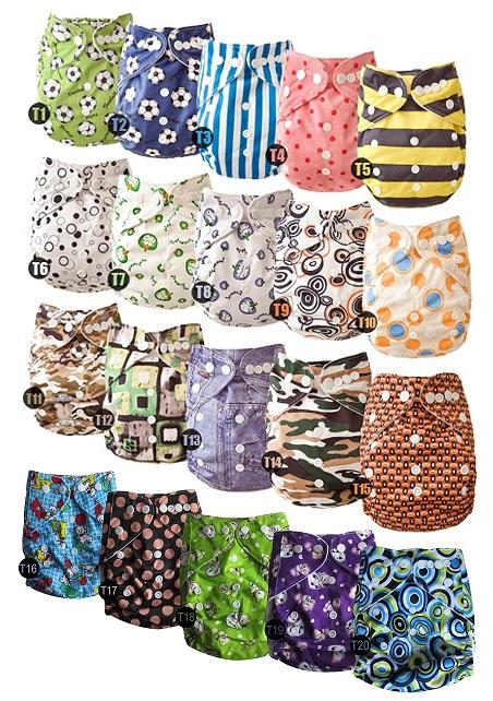 New Lovely Naughtybaby cloth diaper reuseable printed nappy covers no inserts