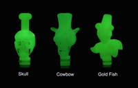 Wholesale Noctilucent Fish - Luminous glow 510 Drip Tips EGO Skull cowboy gold fish style Noctilucent Mouthpiece Fit 510 CE4 EGO DCT CEAtomizers for EGO T E-cigarette