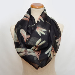 Dragonfly scarves online shopping - DHL Free Unique New Style Infinity Scarf Ladies Fashion Hot Scarf Infinity Scarves dragonfly circle scarf