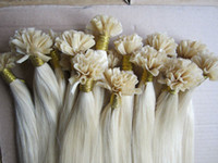 "Wholesale Cheap Pre Bonded Remy Hair - Wholesale cheap 16""-26""pre-bonded indian remy hair #60 nail u tip hair extension 1g pcs DHL free shipping"
