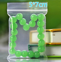 Free EMS DHL 5000pcs Thicker (5cm*7cm) Clear Resealable Plastic PE Zip Lock Bags Food Storage Jewelry Rings Earrings Bags
