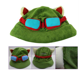 Wholesale League Cosplay Hot - Hot Selling Retail League of Legends cosplay cap Hat Teemo hat Plush+ Cotton LOL plush toys Hats