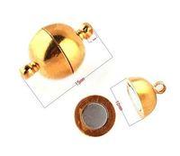 magnetische armbänder halsketten großhandel-10mm Magnetverschluss, vergoldet Armband Halskette Magnetverschluss, Modeschmuck Verschlüsse