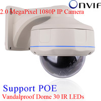 Wholesale hd poe - H.264 Onvif 2.0 MegaPixel 1080P Full HD 1920x1080 Vandal-proof Dome IR Outdoor Camera Network 1080P POE IP Camera