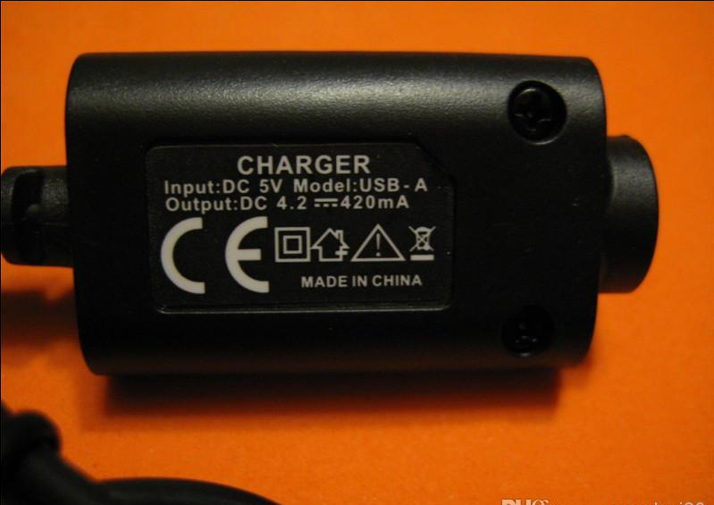 Wholesale - New Ego usb charger for electronic cigarette battery ego-t,ego-w,ego-c, e-cig usb cable charger with DHL