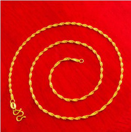 $enCountryForm.capitalKeyWord Canada - fashion yellow water wave chain bridal necklace, 24k gold plated necklace for 2016 women jewelry suitable for any pendant