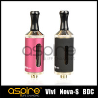 Vente en gros -Aspire vivi nova s ​​BDC Clearomizer cigare électronique Atomiseur 3.5ml e-cigarette bottom Bobine verticale Cigarette DHL Free