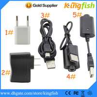 Wholesale usa cables - Kingfish Electronic Cigarette E Cigarette Ego Battery Charger,Wall Charger for USA EU UK AU,ego battery charger,usb cable,mini adapter