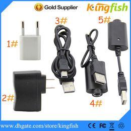 Wholesale mini usb cable adapters - Kingfish Electronic Cigarette E Cigarette Ego Battery Charger,Wall Charger for USA EU UK AU,ego battery charger,usb cable,mini adapter