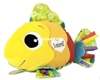 Wholesale Lamaze Feel Me Fish cute clownfish massage particle ring paper cloth toys
