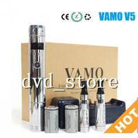 Wholesale Ego V5 - New Vamo V5 starter ego kit LCD Display Variable Voltage battery e cigar CE4 atomizer clearomizer Electronic cigarettes in Gift box DHL Free