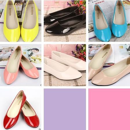 2014 kız Düz Ayakkabı Şeker renkleri Düz Kat Boya Ayakkabı ile