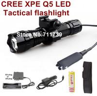 lanterna led usa venda por atacado-Alonefire EUA UE Venda Quente 501B Cree Q5 LEVOU Lanterna Tática Tocha Início lanterna ao ar livre para 18650 bateria