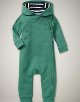 Wholesale Black Hooded Bodysuit - Wholesale baby boys romper kids children bodysuit one-pieces jumpsuit hooded long sleeve Rompers 3p l