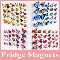 Wholesale Wholesale Decorative Magnets - Hot Sell 100 pcs lot Beautiful Decorative Artificial Butterfly Magnet for Fridge Decoration, Butterfly Magnet for Decoraion