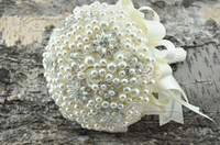 Wholesale High End Bridal Bouquets - Free shipping High-end custom Korean Exquisite pearl the bridal bouquet brooch bouquet white