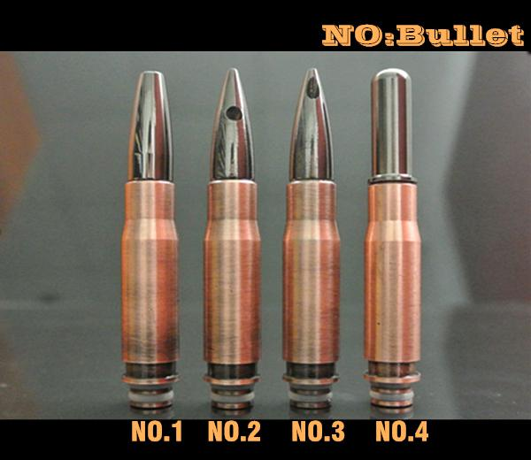 EGO E Cigarros 510 Bullet Drip Tips Fit Electronic Cigars 510 Clearomizers Acero inoxidable EGO Boquilla Cheap E-cigarette Accessories