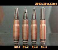 puntas de goteo de bala al por mayor-EGO E Cigarros 510 Bullet Drip Tips Fit Electronic Cigars 510 Clearomizers Acero inoxidable EGO Boquilla Cheap E-cigarette Accessories