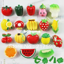 Baby Magnets Canada - 18pcs lot cartoon refrigerator stickers magnets whiteboard fridge magnet baby educational toy fruit toys