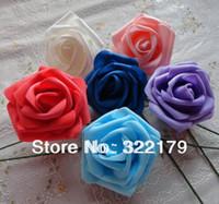 ingrosso rose artificiali blu royal-50X Royal Blue Roses Fiori artificiali FAI DA TE Bouquet da sposa Matrimonio Centerpices Lotti all'ingrosso