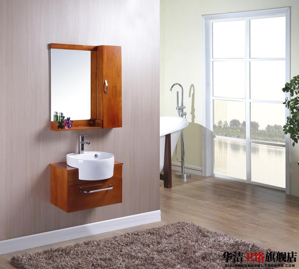 See larger image. 2018 Hot Solid Wood Bathroom Cabinet Oak Bathroom Cabinet Wash