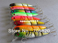 Wholesale New Jointed Minnow Lures - New Arrival,8 color 10.5cm 14g 3 sections jointed minnow fishing lures,fishing hard bait hooks,50pcs lot,Free shipping