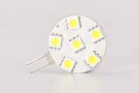 Freier Versand !!! Rote LED G4 Lampe 6LEDS der 5050SMD runde Birne dimmable breite Spannung AC / DC10-30V 5pcs / lot