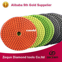 """Wholesale Granite Wet Polishing Pads - Premium Wet 4""""(100mm) with 2.5mm flexible wet angle grinder polishing pads for Granite and Marble Free shipping"""