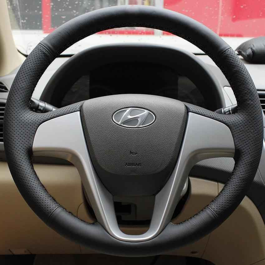 xuji steering wheel cover for hyundai solaris verna i20 accent car