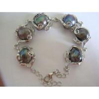 Wholesale Tahitian Pearl Strands - huge 15mm natural tahitian peacock green pearl bracelet