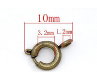Wholesale Bolt Rings Clasp - Free Shipping !300pcs Bronze Tone Bolt Spring Ring Necklace 10*6mm End Clasp