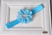ingrosso fascia di queenbaby-Fascia per capelli pettine rigonfio ballerina in chiffon Petalo fiori con bottoni con strass scintilla Fascia 120pcs / lotto QueenBaby