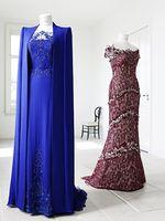 Wholesale Cannes Long Sleeve - Custom made 2014 New Beaded Royal Blue Women Dress Celebrity Dresses Formal Dresses