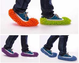 Canada 50pcs (2pcs = 1pair) Couverture antidérapante Nettoyer Vêtement Nettoyage Plancher Chenille Chaussures En Microfibre Couvre-Plancher Essuyage Pantoufle Vadrouille Offre