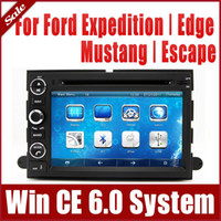 Wholesale Bluetooth Car Audio Ford - 2-Din Car DVD Player for Ford Expedition Edge Mustang Escape with GPS Navigation Radio Bluetooth TV FM USB SD AUX Map Audio Video