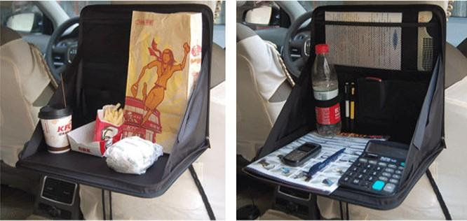 Portable Folding Car Seat Multi Tray Cloth Notebook PC Laptop Table Meal Desk Stand Drink Desk Cup Holder sample free delivery worldwide