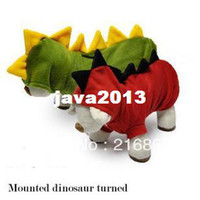 Wholesale Red Dinosaur Costume - free shipping large pet dog girl clothes 2014 harness pet products big dog clothing t-shirt sale Dinosaur transformation