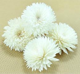 2019 fiori di crisantemi 10pcs / lot Bianco Chrysanthemum Design Sola Fiore Diffusore di fiori per profumi della natura ZH0405 fiori di crisantemi economici