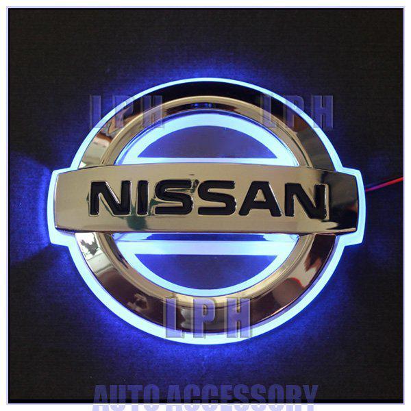 Single Color Car Logo Light For Nissan Livina Car Badge Light Auto