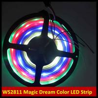Wholesale Silicon Tube Led Strip Lighting - 5M Magic Dream Color 133 Color Modes RGB LED Light Strip WS2811 IC 12V 5V IP67 Silicon Glue Tube Waterproof SMD 5050 150LEDs