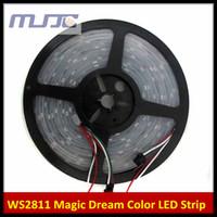 Wholesale Led Strip Ws2811 Ic - 5M WS2811 IC Digital 5050 RGB Dream Color 30Led M Led strip Light Waterproof 5V 12V DC Free Shipping by Fedex DHL UPS