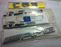 arabalar için rozetleri toptan satış-Ücretsiz Kargo AMG Orijinal Araba Rozeti Amblem W203 W204 C32 C55 C63 W211 E50 E55 için araba sticker