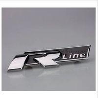 Wholesale Emblem Sticker Vw R Line - Free Shipping VW Racing R Line Emblem car sticker