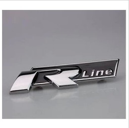 Wholesale Vw Racing - Free Shipping VW Racing R Line Emblem car sticker